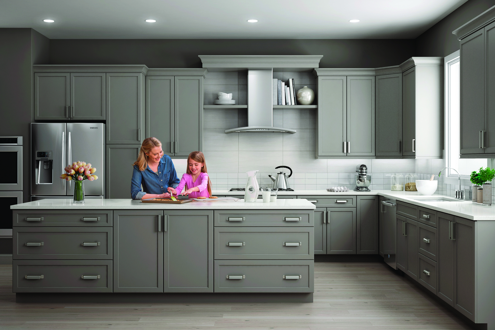 Wolf Gray Cabinets York Style