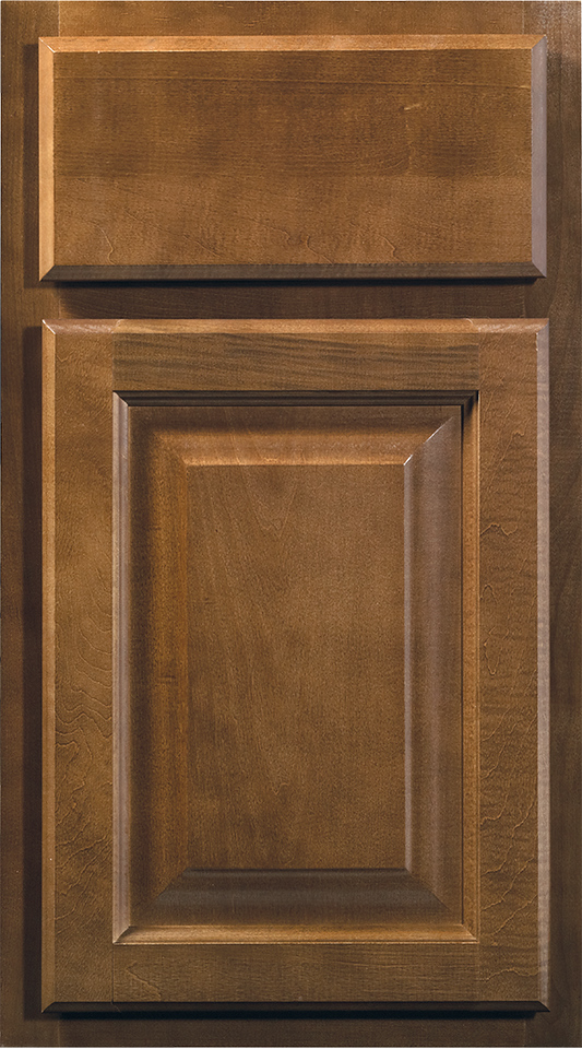 Wolf Cabinets Saginaw Collection Chestnut Stain Door Style