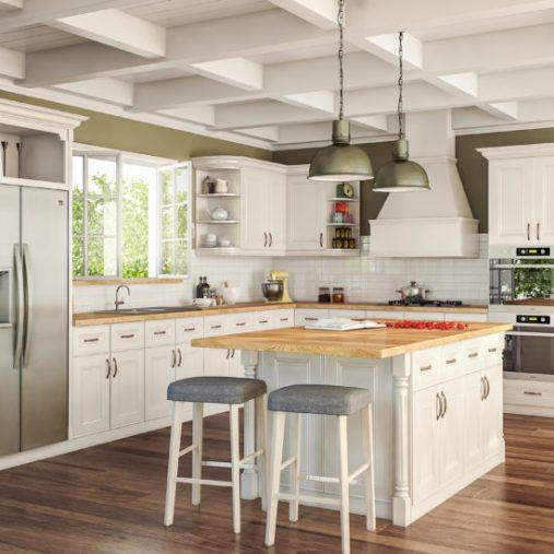 Alexandra CNC Cabinets Concord Series in Vanilla Pearl