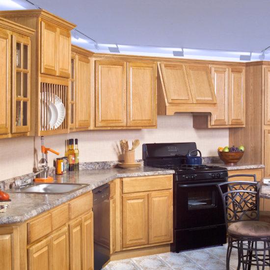 Oak CNC Kitchen Cabinets Design
