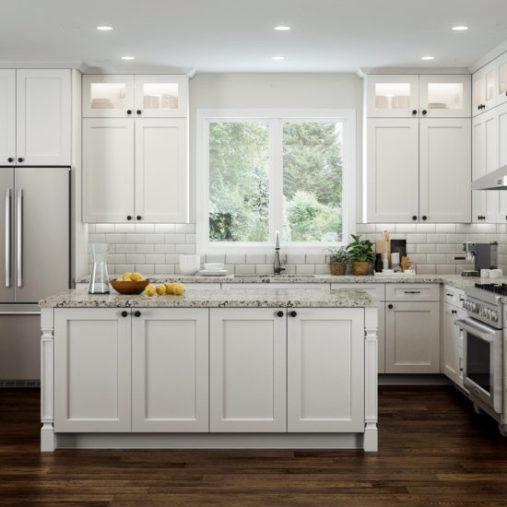 Elegant White CNC Kitchen Cabinets Design