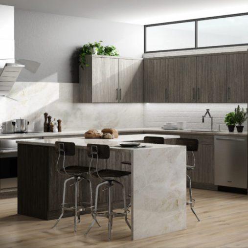 Matrix Silver Classic Kitchen Cabinets by CNC