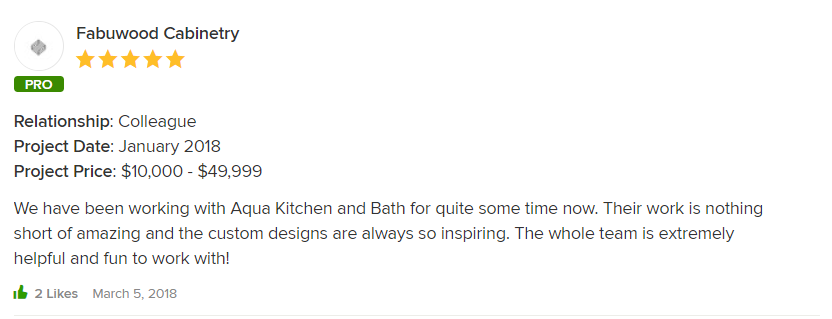Houzz Review from Fabuwood Cabinetry