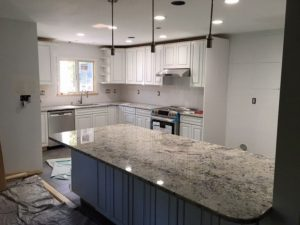 Delicatus White Granite Installation in Pomona, NY