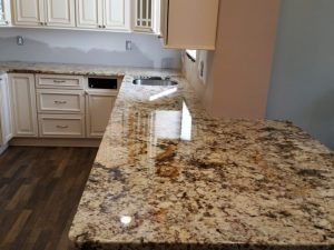 Giallo Fiorito Granite Countertop Installation in Fair Lawn NJ