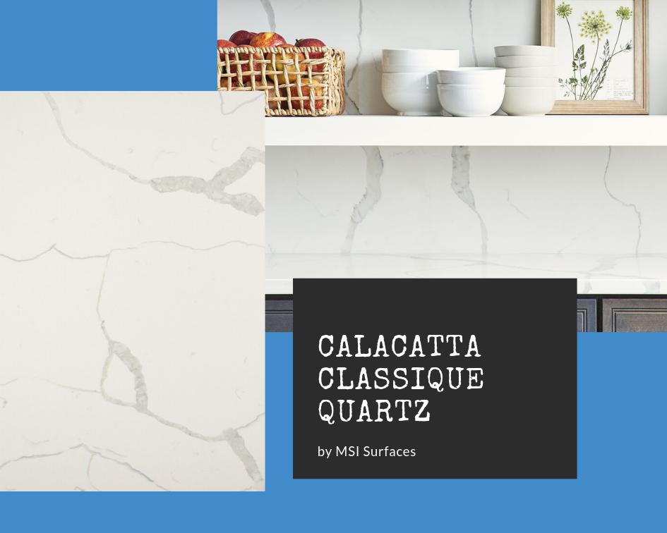 Calacatta quartz countertops: Calacatta Classique by MSI