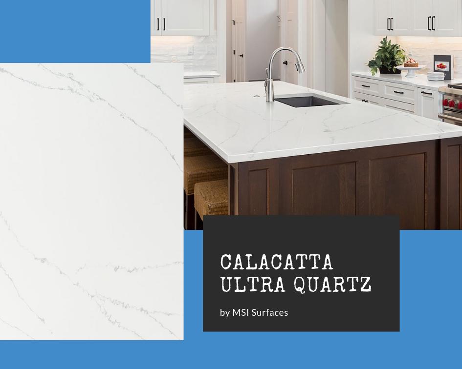 Calacatta Quartz Kitchen: Ultra Quartz by MSI Surfaces