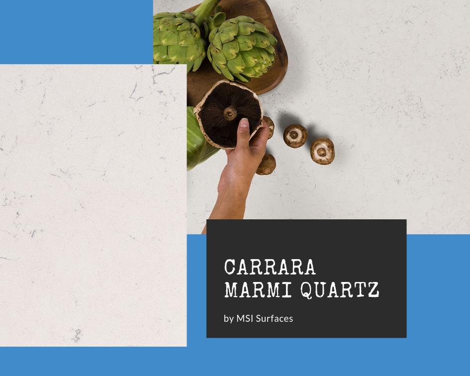 Carrara quartz countertops: Carrara Marmi by MSI Surfaces
