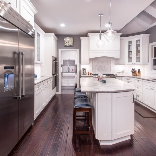 Forevermark Ice White Shaker Kitchen Cabinets Low Price