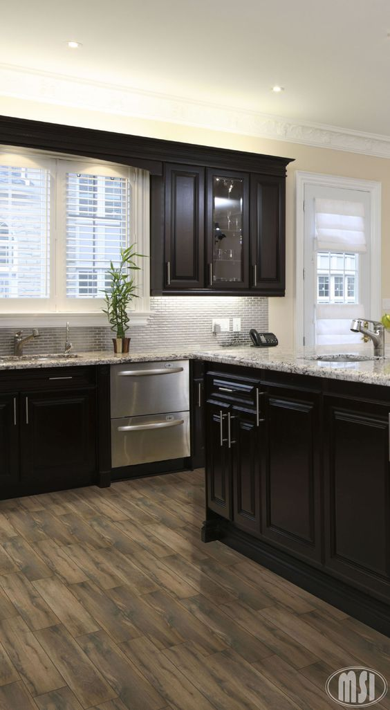 Black Kitchen Cabinets photo by MSI