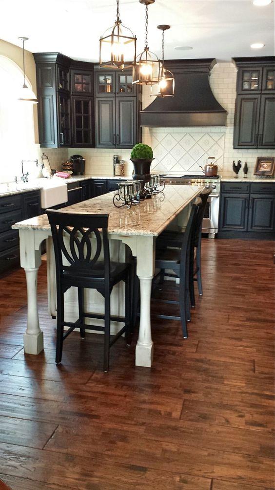 Black kitchen design by Callier & Thompson
