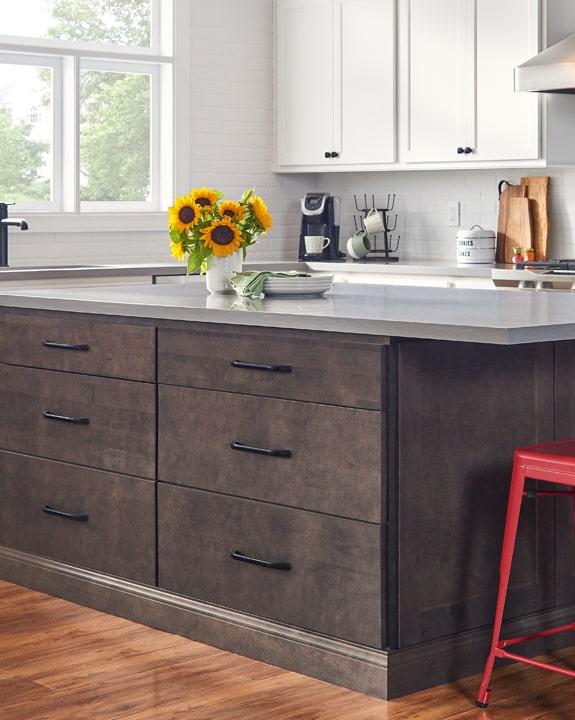 Wolf Dartmouth Brownstone Stain Kitchen Cabinets