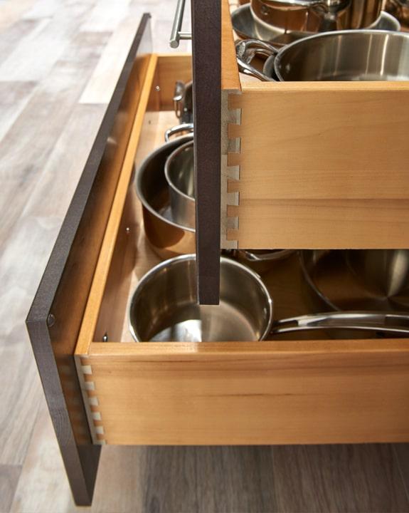 Wolf Dartmouth Dark Sable Stain Kitchen Cabinets