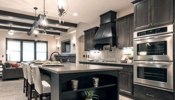 Wolf Dartmouth Grey Stain Kitchen Cabinets