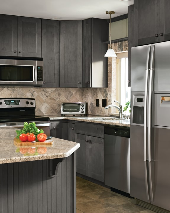 Wolf Dartmouth Grey Stain Kitchen Cabinets Modern Look Low Price