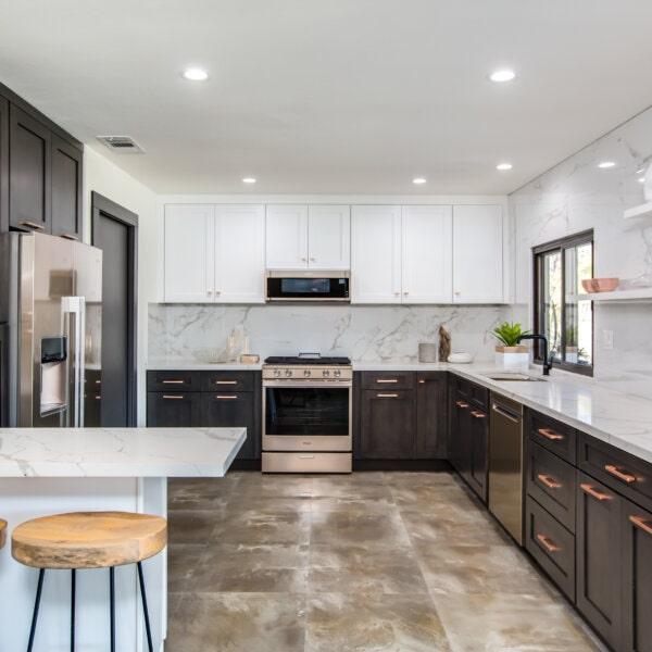 Forevermark Greystone Shaker Kitchen Cabinets