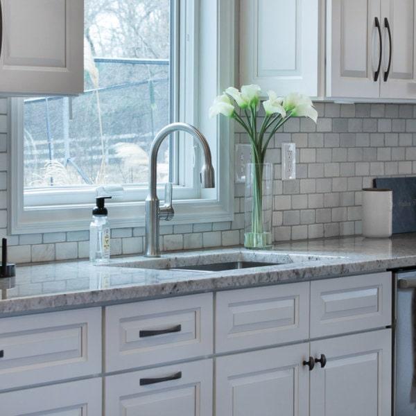Forevermark Gramercy White Kitchen Cabinets
