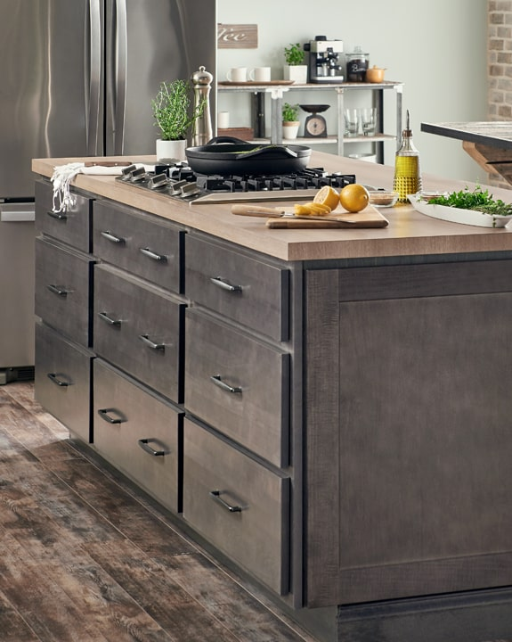Wolf Hanover Gray Stain Kitchen Cabinets Factory Direct Price