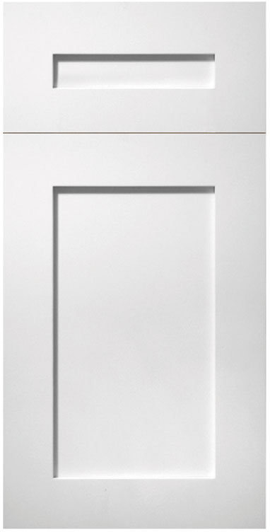 Shaker Frosty White Maple Hanssem Door Style