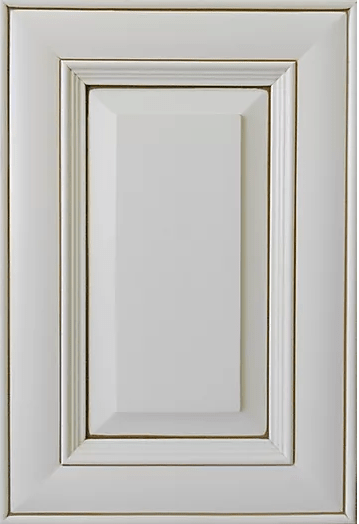 Maple Crystal White Miter Cabinet Door Style
