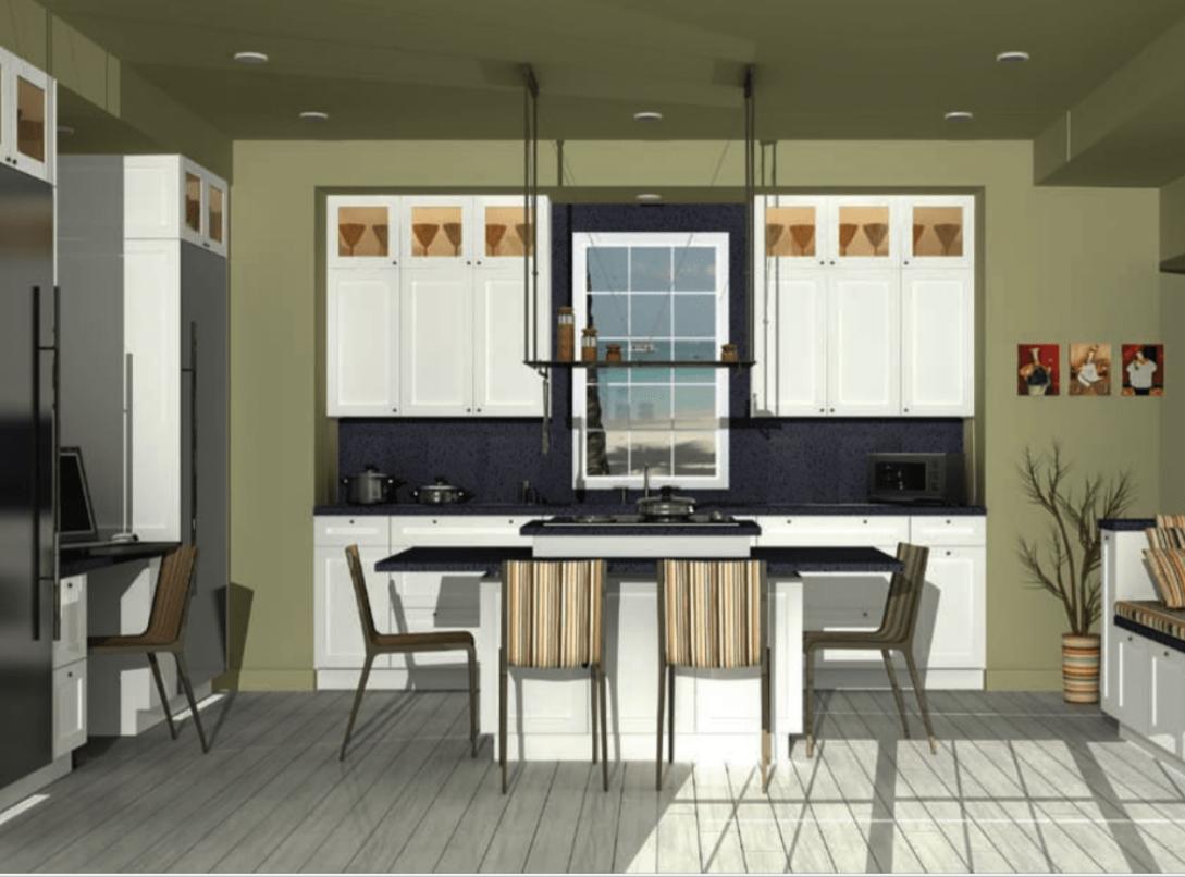 Maple Frosty White Hanssem Kitchen Design