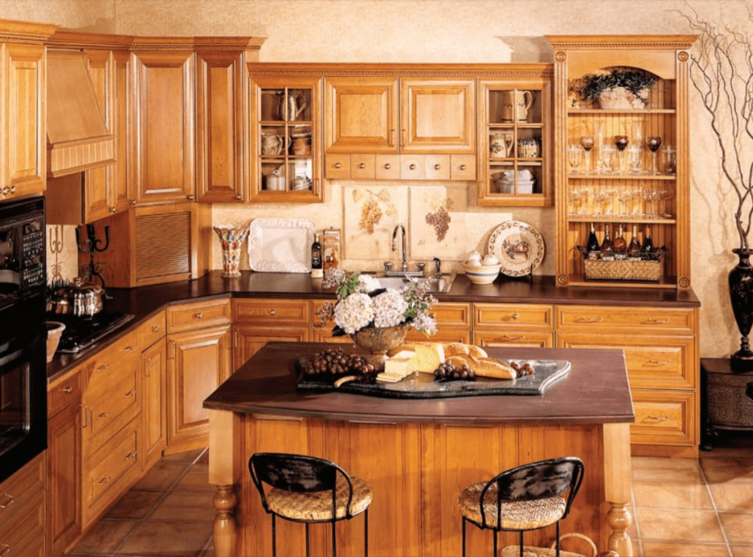 Maple Harvest Gold Square Traditional Hanssem Kitchen Design