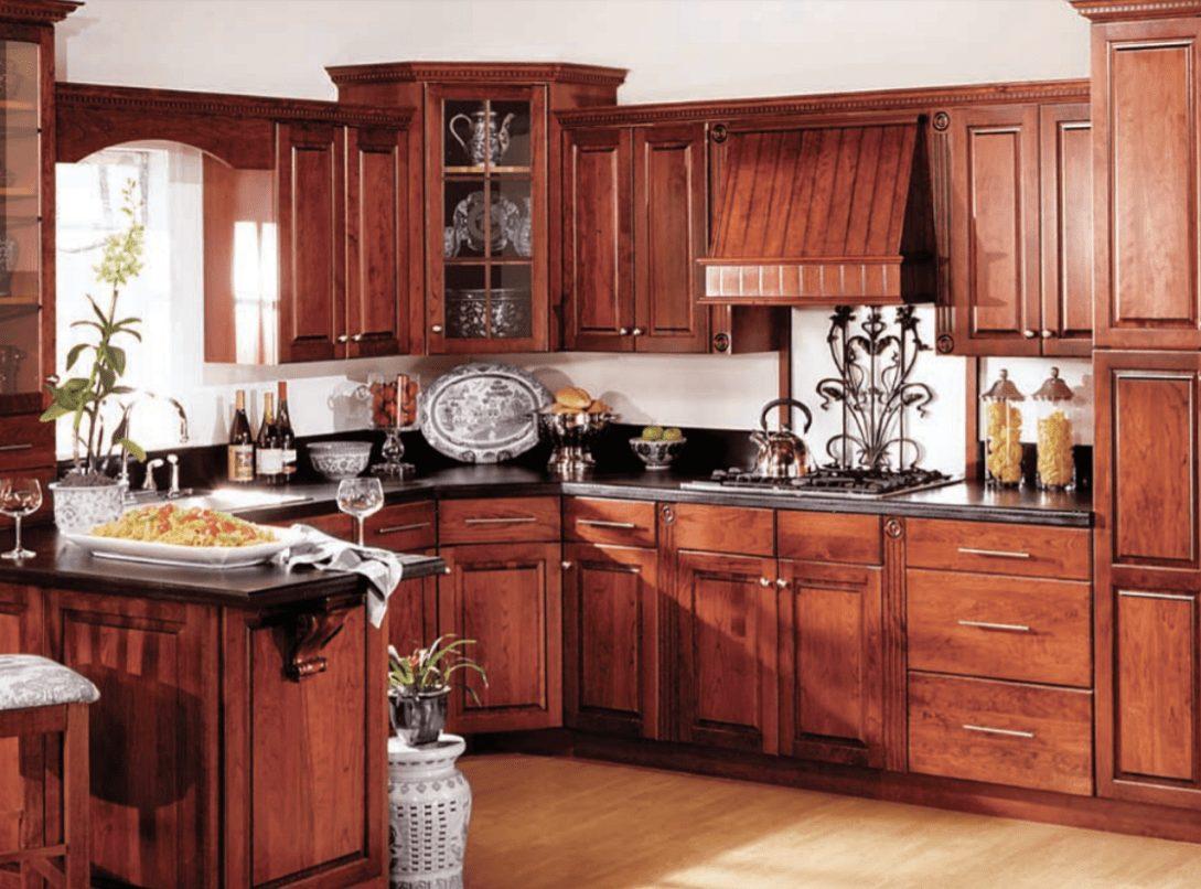Square Cherry Cordovan Traditional Hanssem Kitchen Design