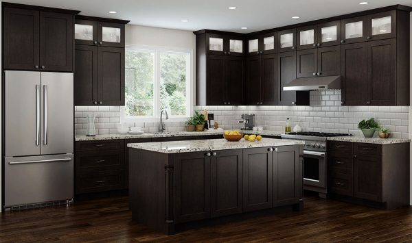 CNC Concord Elegant Espresso Kitchen Cabinets