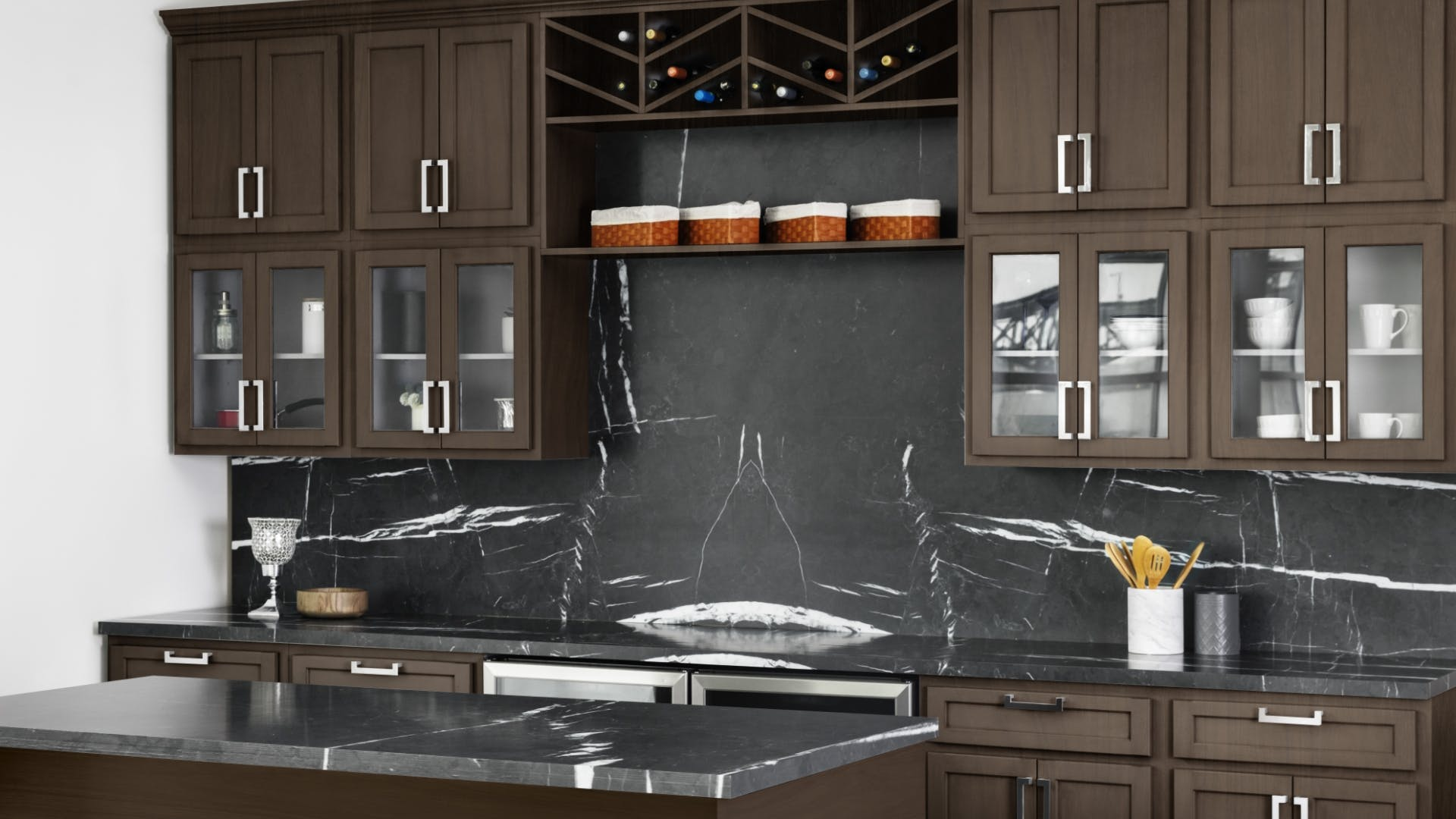 Quest Metro Java Kitchen Cabinets