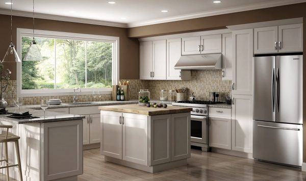 CNC Country Luxor White Kitchen Cabinets