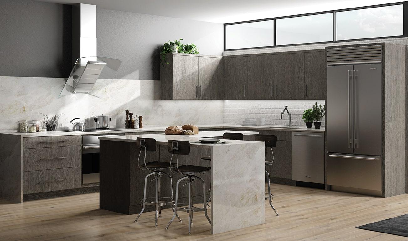 Classic Matrix Greystone Kitchen Cabinets