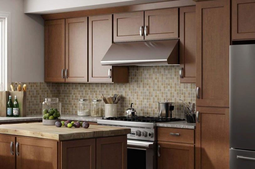 CNC Country Luxor Cinnamon Kitchen Cabinets Upscale Design