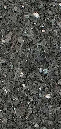 Blue Pearl Silver Granite Detail