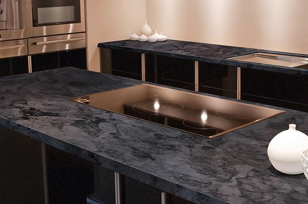 Cirrus Gray Quartzite MSI Kitchen
