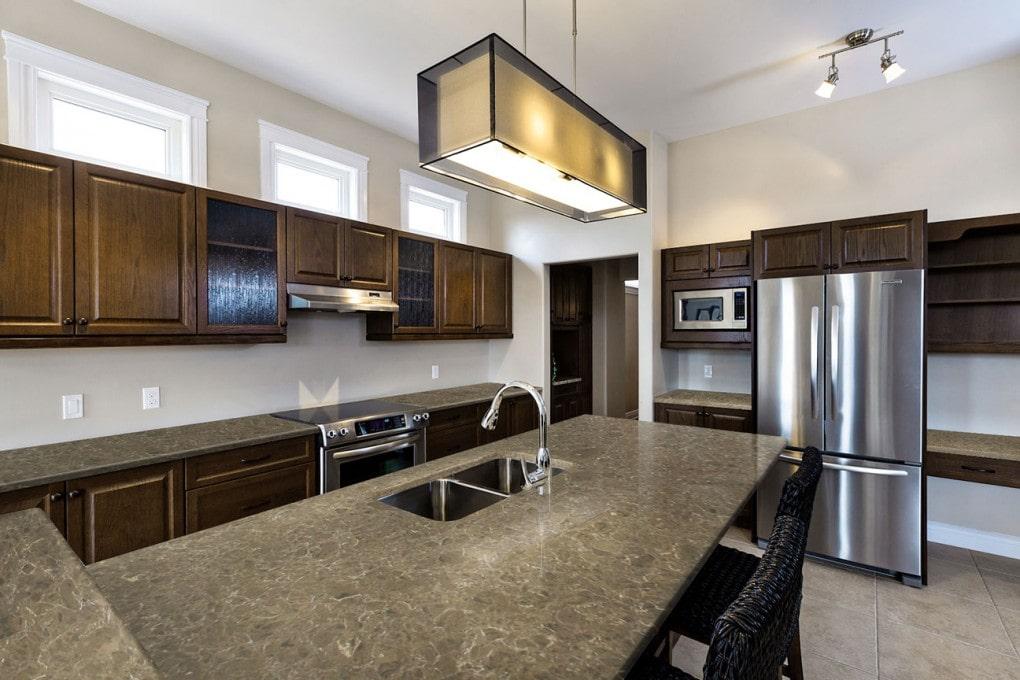 Emperador Classic Pental Quartz Kitchen Design