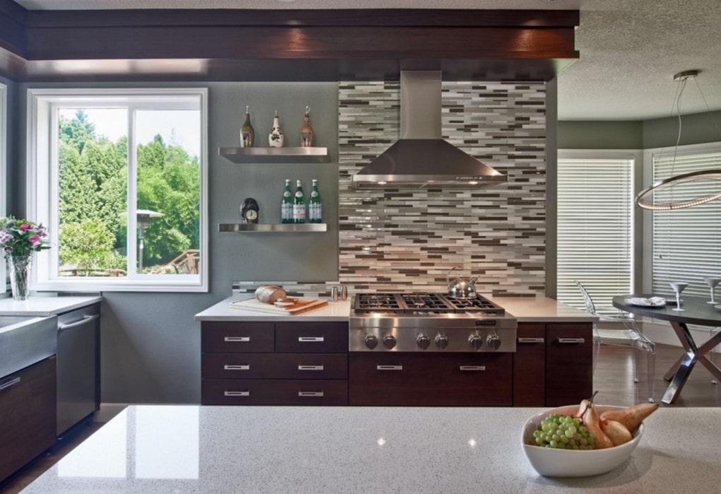 Sparkling White Quartz Kitchen Design