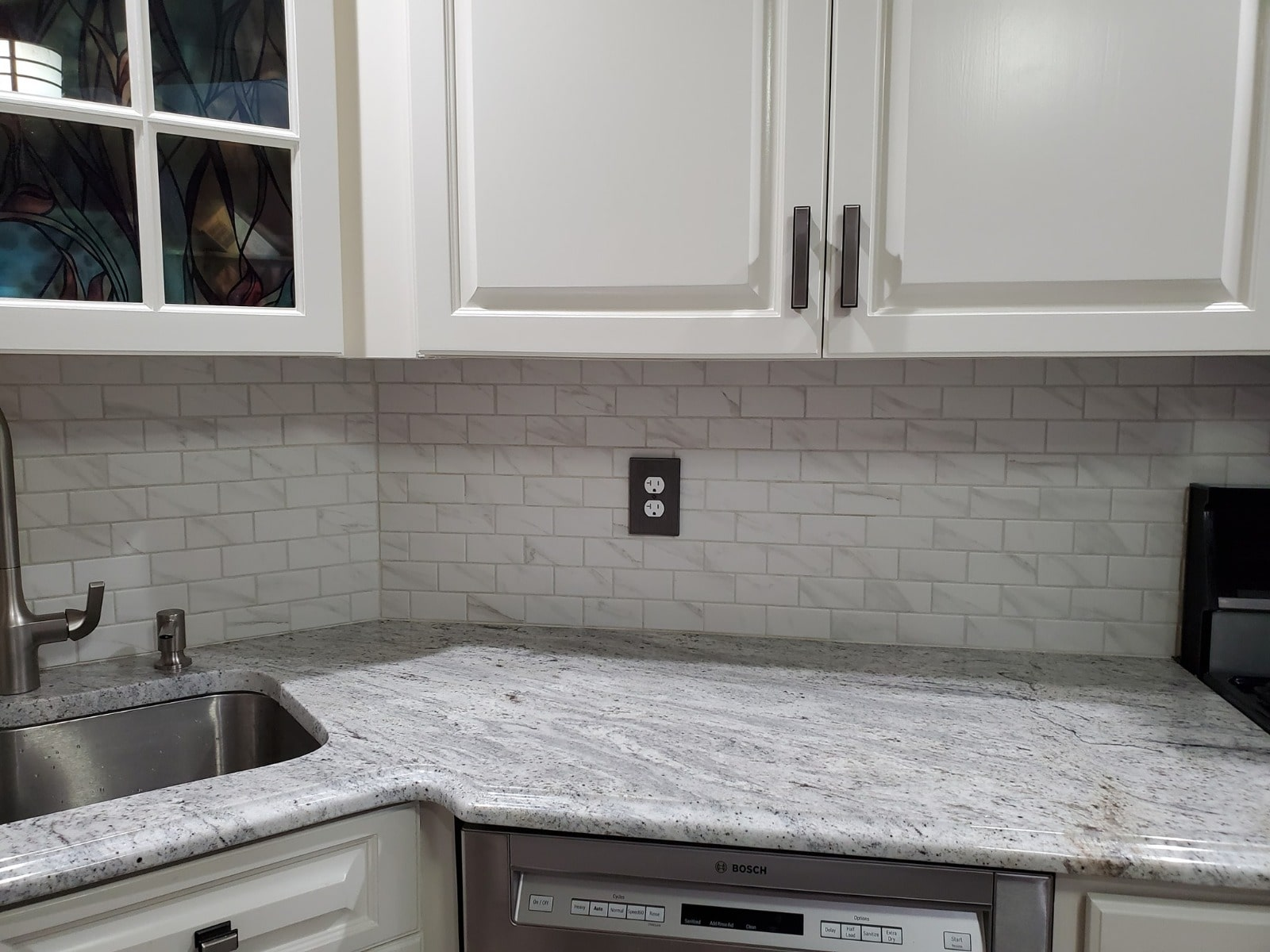 bahamas white granite with white cabinets installation in west milford nj