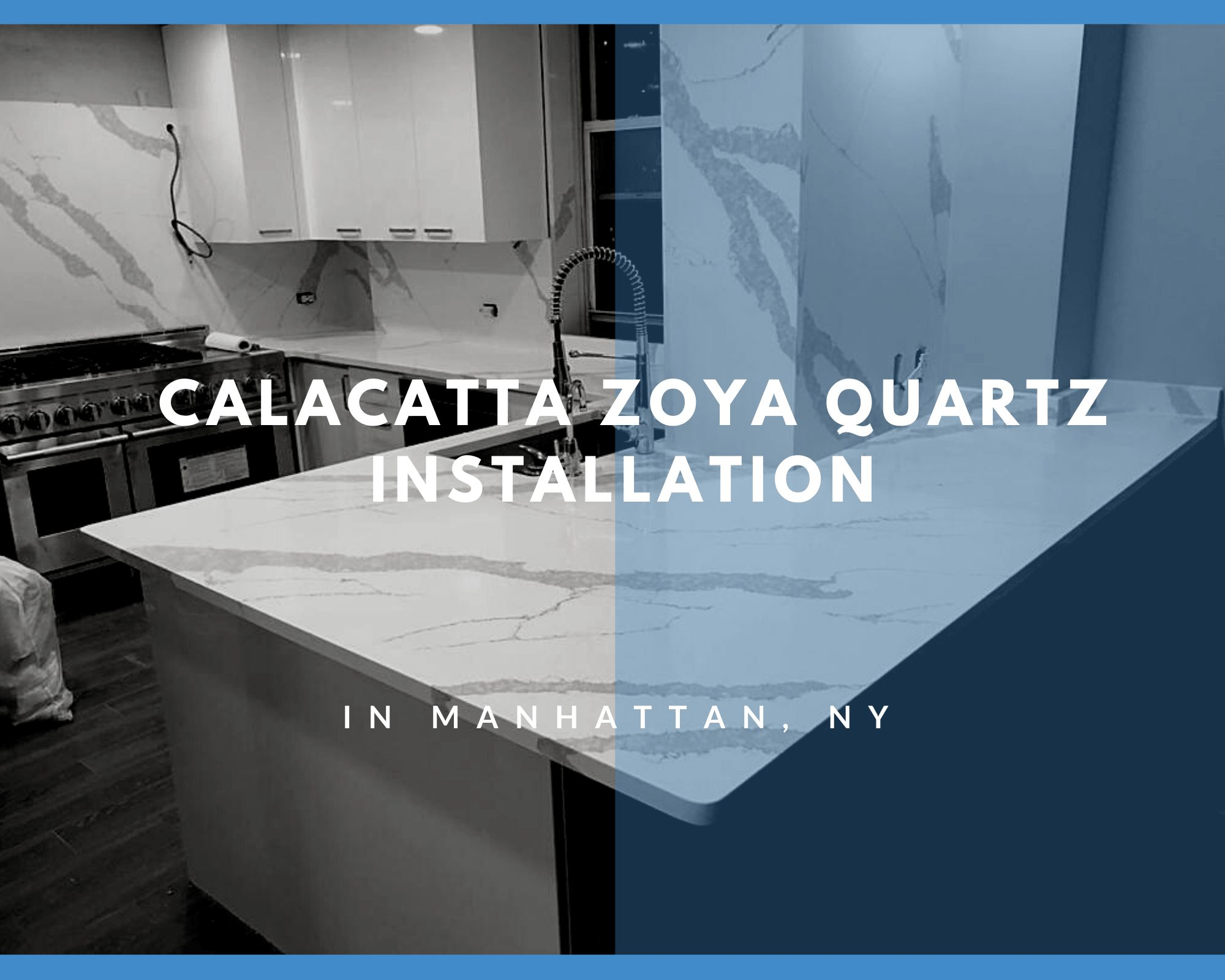 Calacatta Zoya Quartz Installation in Manhattan, NY
