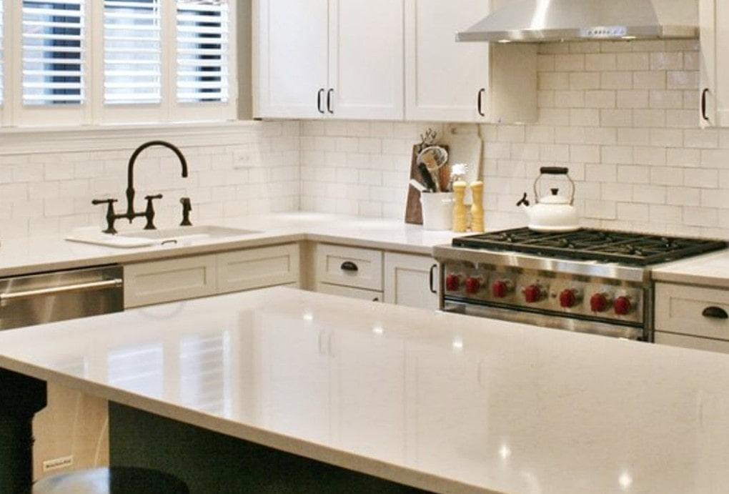 Silestone Lagoon Quartz Kitchen Design