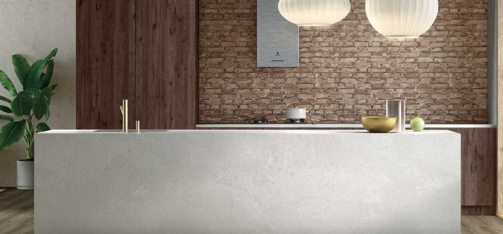 Silestone Nolita Quartz Kitchen Island Design