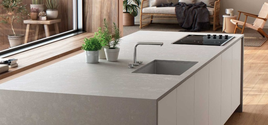 Silestone Poblenou Quartz Kitchen Island Design