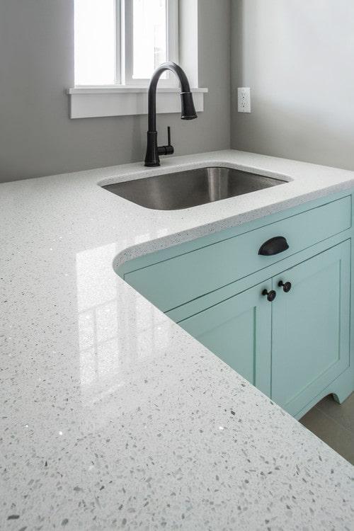 Sparkling White Quartz Countertops by MSI Surfaces