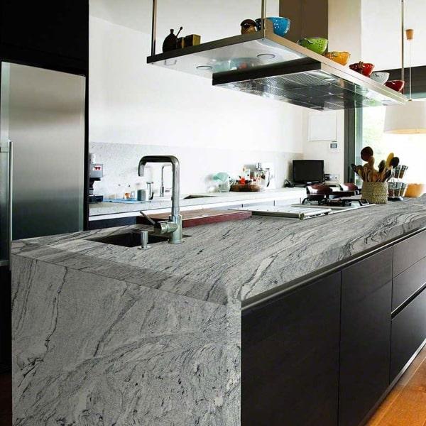 Blizzard Granite Waterfall Kitchen Island