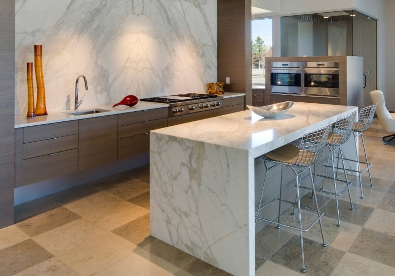 Waterfall Kitchen Island Design Ideas For Jaw Dropping Look