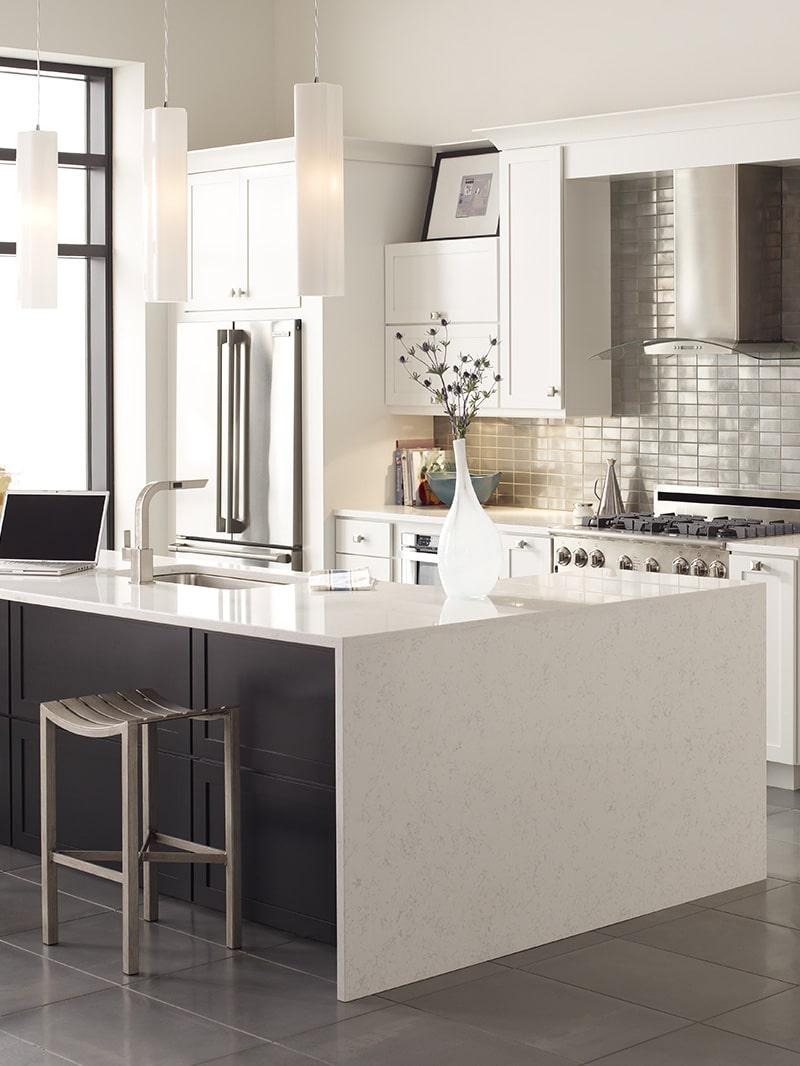 Coarse Carrara Quartz by Corian Design Application