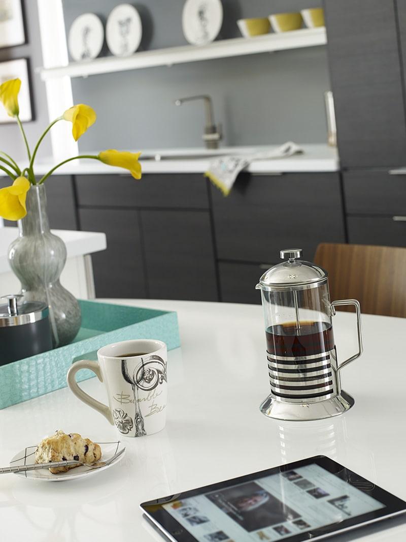 Corian Snow White Quartz Kitchen Design