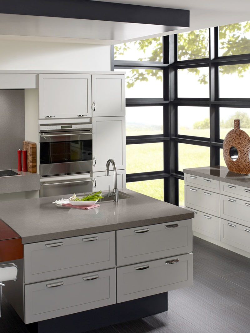 Dove Grey Quartz Design Application