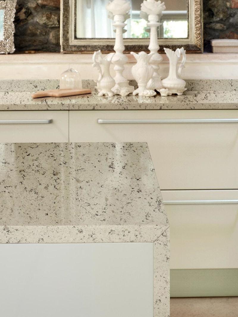 Pearl Stone Quartz Kitchen Design Application