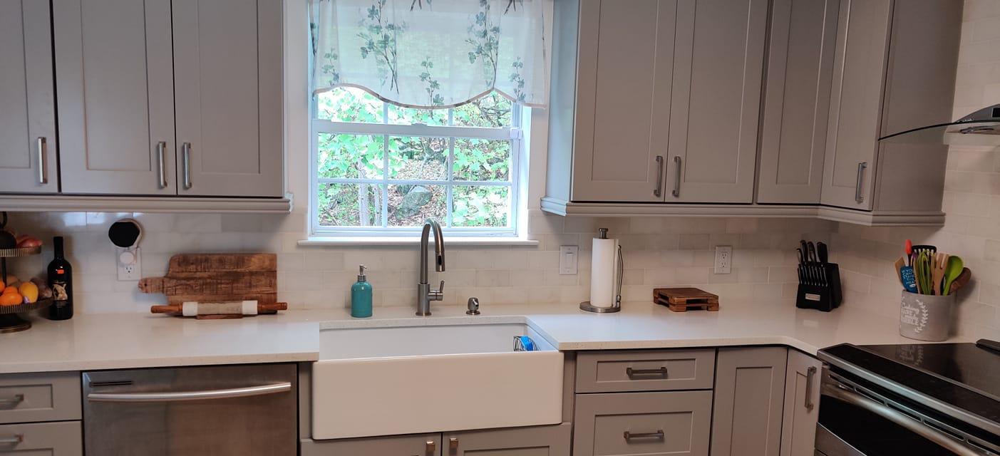 Sparkling White Quartz Countertops Installation Project
