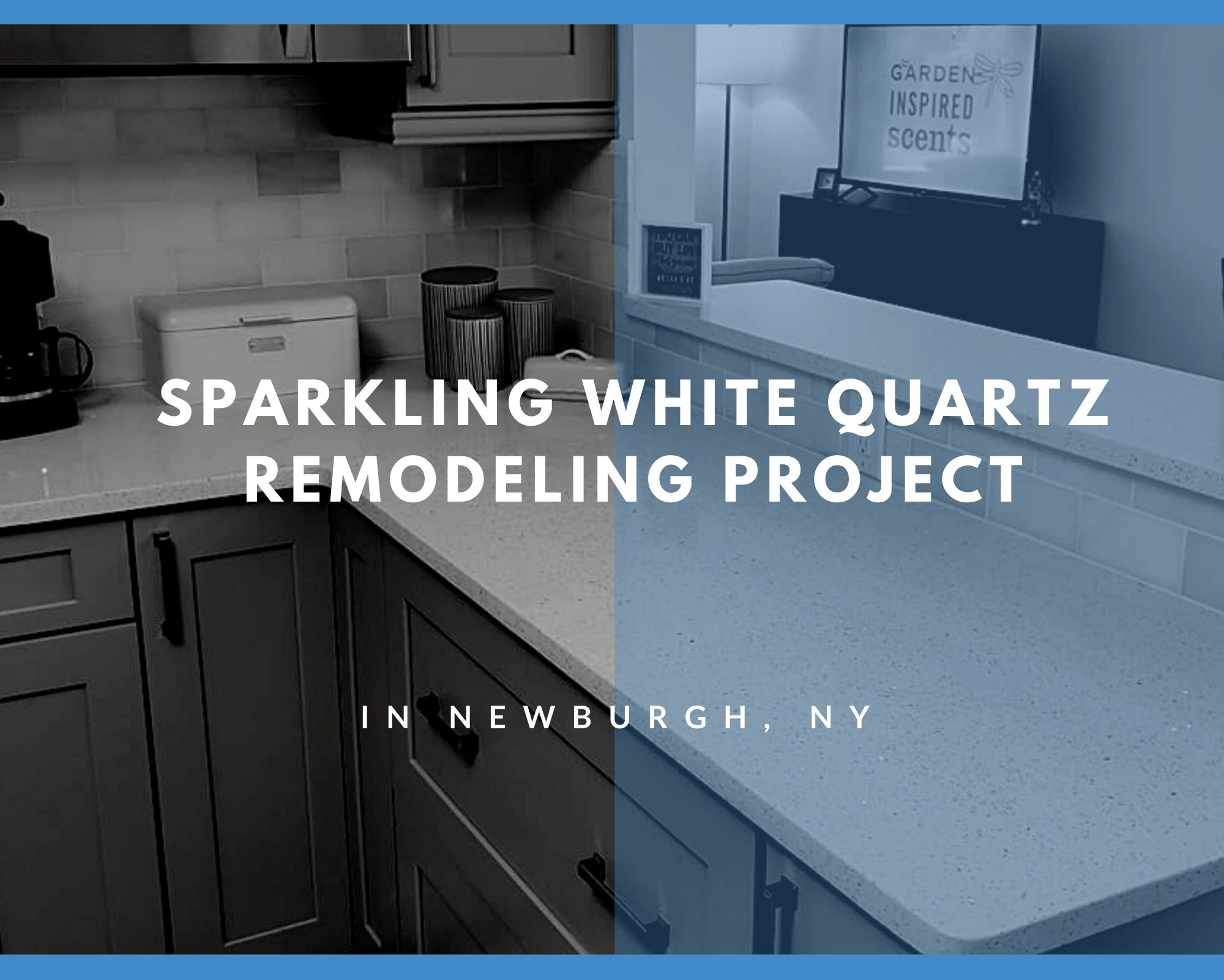 Sparkling White Quartz Installation in Newburgh, NY